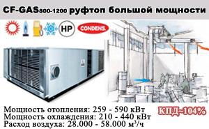 Конденсационные газовые моноблочные установки CF-GAS 800-1200