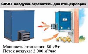 Воздухонагреватели для птицефабрик SUPERCIKKI