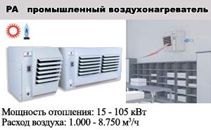 Газовые подвесные воздухонагреватели PA