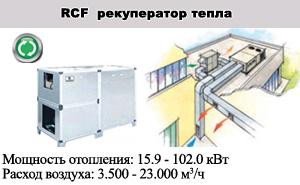 Рекуператоры тепла RCF