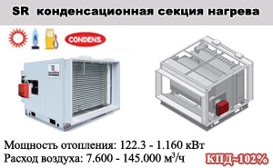 Конденсационные секции нагрева воздуха SR