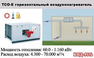 Горизонтальные воздухонагреватели ТСО-Е